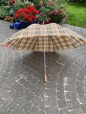 Burberry Burberrys Burberry's Schirm Regenschirm Stockschirm Umbrella Vintage