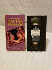 """Led Zeppelin""""The Song Remains The Same""""VHS 1976/1991 Warner Reissue(Excellent)"""
