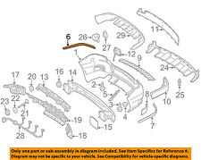 MERCEDES OEM 10-12 GLK350 Rear Bumper-Trim Molding Right 2048852021