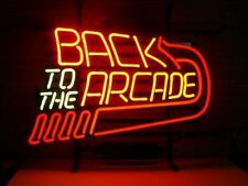 """New Pinball Game Back To The Arcade Beer Neon Sign 17""""x14"""" Ship From USA"""