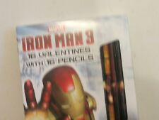 16 New Valentines Iron Man 3 Cards With Pencils