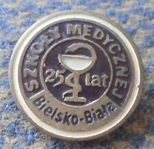 POLAND city BIELSKO BIALA MEDICAL SCHOOL HOSPITAL 25 ANNIVERSARY(1957-1982) PIN
