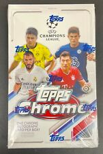 2020-21 TOPPS CHROME UEFA CHAMPIONS LEAGUE SOCCER FACTORY-SEALED HOBBY BOX