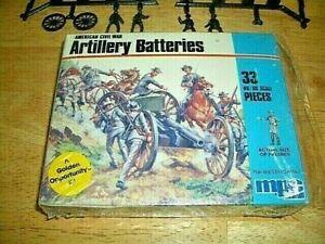 VINTAGE AIRFIX AMERICAN CIVIAL WAR ARTILLERY BATTERIES #1-6006 - USA MADE - 1982