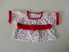 Build A Bear Babw White Red Hearts Shirt Top Teddy Clothes