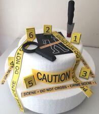Escena del crimen/asesinato misterioso Comestible Para Decoración De Pasteles Cake Topper/Cumpleaños.