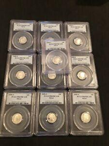 Lot of Ten (10) 2008-S PCGS PR69DCAM DIME Lot 10C NO RESERVE Dealer Lot!