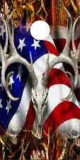 American Deer Oblit Skull Blaze Cam LAMINATED Cornhole Wrap Bag Toss Skin Decal