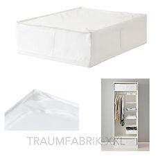 Aufbewahrungsbox 69x55x19cm Aufbewahrung Bettdecke BOX Tasche Regalbox weiß NEU