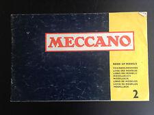Catalogue meccano Book of models 2 BON ETAT