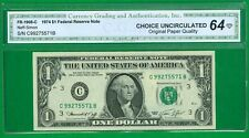 "$1 1974 1 C/B BLOCK (w) PHILADELPHIA ""CHOICE UNCIRCULATED"" P-4. ""SCARCE"" OPQ"