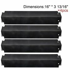 Porcelain Steel Heat Plates 4pk BBQ Gas Grill Parts for Charbroil Kenmore Sears