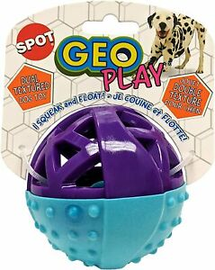 Ethical Geo Play Dual Texture Ball Dog Toy  Free Shipping