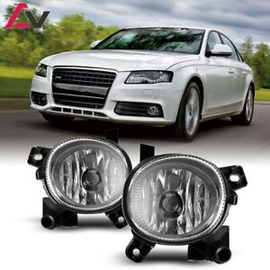 For Audi A4 08-16 Clear Lens Pair Bumper Fog Light Lamp OE Replacement DOT