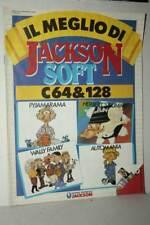 RIVISTA IL MEGLIO DI JACKSON SOFT C64 e 128 USATA EDIZIONE ITALIANA FR1 54211