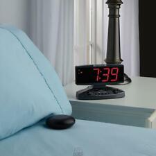 The Sensory Overload Alarm Clock Rings at 95 Decibels Vibrating Disc Large LCD