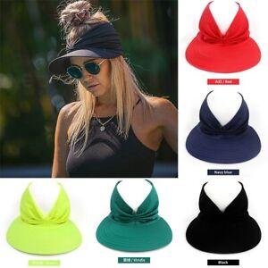 Women Ladies Brim Sun Hat Summer Outdoor Anti-UV Beach Visor Caps Adjustable