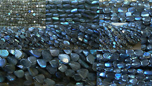 """Labradorite beads AAA 14""""strands Round, Rondelle, Brick, Oval, Square, More"""
