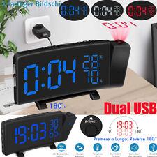 Radiowecker Radio Uhrenradio Wecker Digitaler Wecker Dual-USB-Ladeport Tischuhr