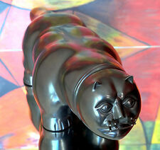"""Fernando Botero """"The Cat"""" Great Bronze Sculpture, Signed & Numbered. Animals"""