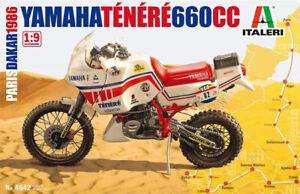 ITALERI YAMAHA TENERE 660CC PARIS DAKAR 1986 1/9 PLASTIC MODEL