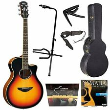 Yamaha APX500IIIVS Thin Line Acoustic/Electric Guitar, (Vintage Sunburst) Bundle