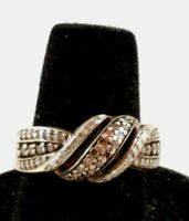 IJDN 925 SILVER WOMEN'S RING WITH STONES SIZE 7