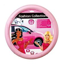 "Odorless Pink Fashion Collection Steering Wheel Cover Fits 14.5"" to 15.5"" Girls"