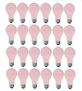 GE 97483 Light, 60w, Soft Pink 24 New Bulbs