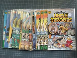 MIXED LOT OF 18 GLADSTONE DISNEY UNCLE SCROOGE, MICKEY & DONALD WITH DUPES