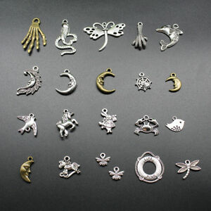 Wholesale Lot Jewelry Finding Making Charms Pendant Carfts DIY Animals Moon