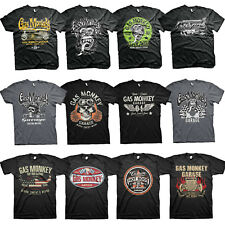 Official Gas Monkey Garage Licensed Fast N Loud Kustom Builds Skull Mens T-shirt