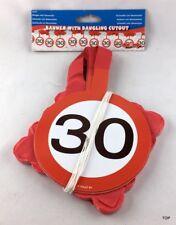 Girlande Dekoration 30 Geburtstag Jubiläum Papiergirlande - Verkehrsschild 30