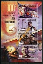 MOZAMBIQUE  2016 100th MEMORIAL OF MAX IMMELMANN WWI SHEET MINT NH