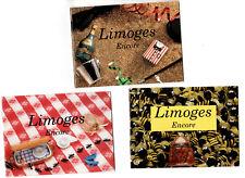 New ListingLimoges Encore Catalogs - Miniature Porcelain Boxes - 1990's - (3)