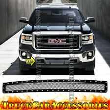 For GMC Sierra 1500 2007-2013/Denali 07-2010 Black Mesh Rivet Bumper Grille 1PC