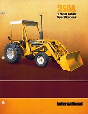 International Vintage 250A Wheel Tractor Loader Specifications Brochure