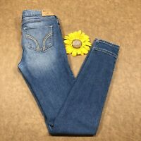 Hollister Womens Skinny Jeans Size 3R Stretch Blue Denim bs379