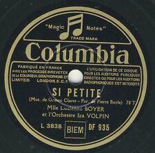 Lucienne Boyer: Si petite / Sans toi     Columbia 78 rpm