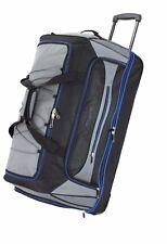 XXL 27 30 36 Inch Wheeled Travel Luggage Trolley Holdall Suitcase Duffel Bag 30 Inches Grey Blue