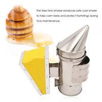 Bee Hive Smoker Stainless Steel Heat Shield Calming Beekeeping Equipment I0Y2