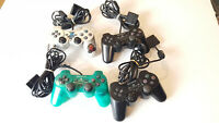 Lot of 4 Sony PlayStation 2 PS2 Wired Controller DualShock OEM Official Genuine