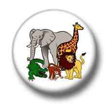 Animals 1 Inch / 25mm Pin Button Badge Lions Elephants African Jungle Tigers Fun