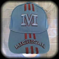 U of M Ball Cap, Light Blue, OSFA Michigan University NWT 80/20 Wool/Acrylic Hat