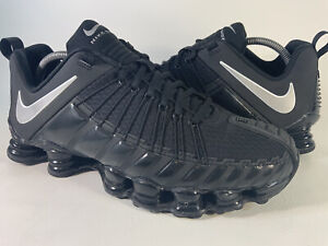 Nike Total Shox Triple Black Metallic Silver Mens Size 10 Rare 749775-001