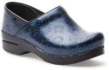 DANSKO Ladies PROFESSIONAL NAVY MEDALLION Leather Clogs  NAVY Sz. 8.5-9 (39) NIB