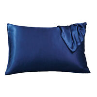 Silk Satin Pillowcase Silky Pillow Case Smooth Bedding Bedroom Queen Standard