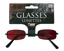 Adult Red Tinted Vampire Glasses - Sunglasses Costume Accessory fnt