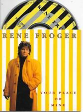 RENE FROGER - Your place or mine CD SINGLE 2TR Europop 1992 Dutch Cardsleeve