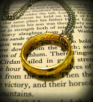 Couple Jewelry Stainless Steel Band The Lord of Rings Pendant Chain Necklace